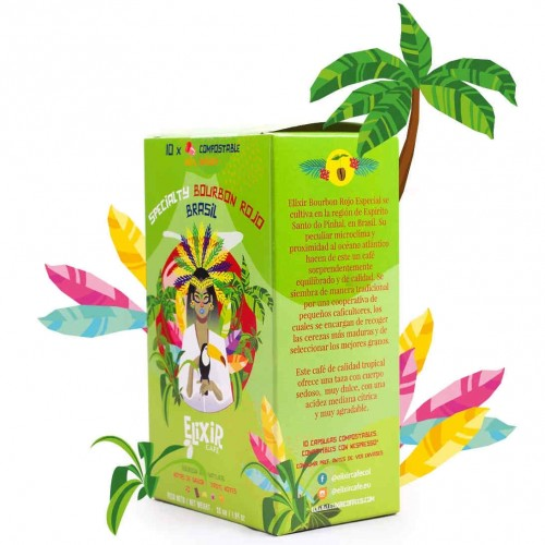 Brazil coffee Capsules - 100% compostable Nespresso compatible - Cafe Gourmet